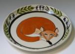 Fox plate_Kathryn Rosebear
