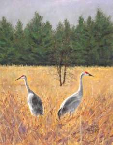 Oil Painting of Birds