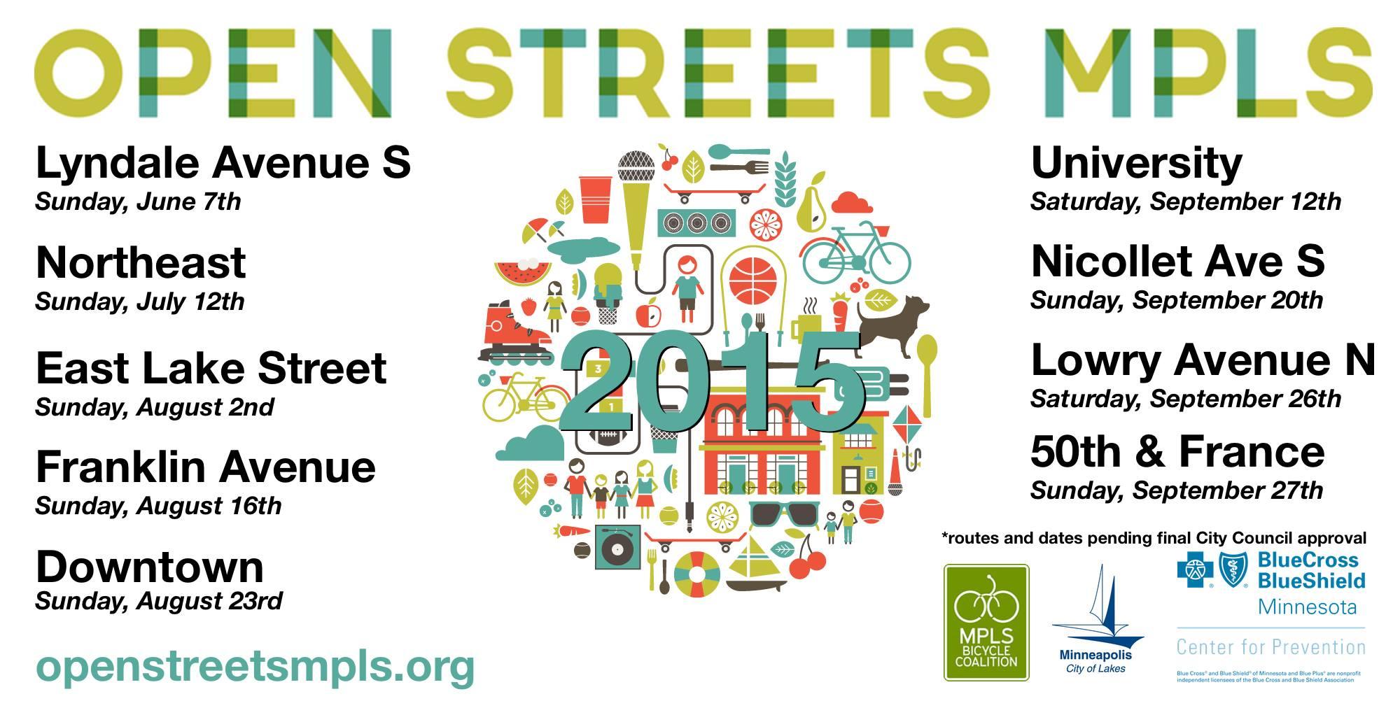 Open Streets 2015 list