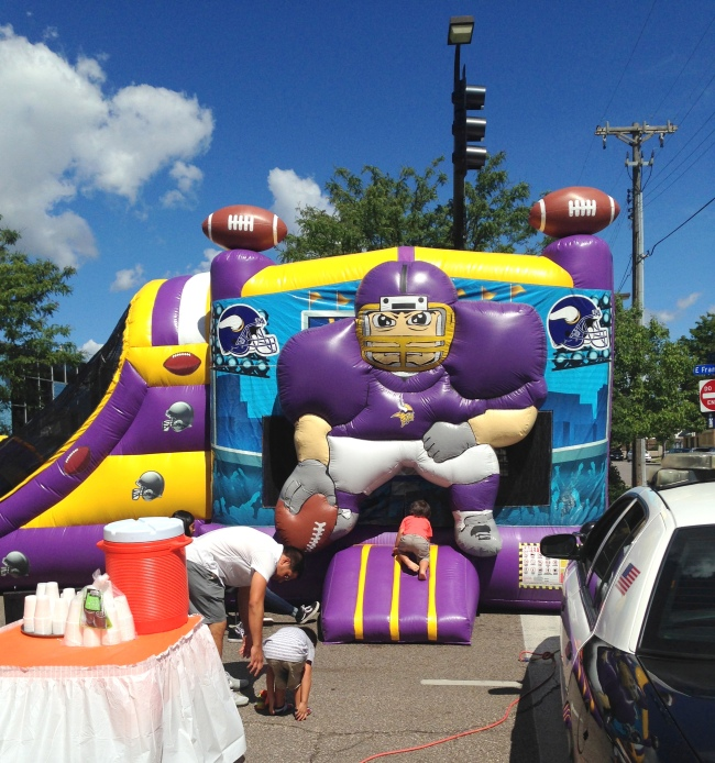 Soberfish was bouncin' with their Vikings themed bouncy house.