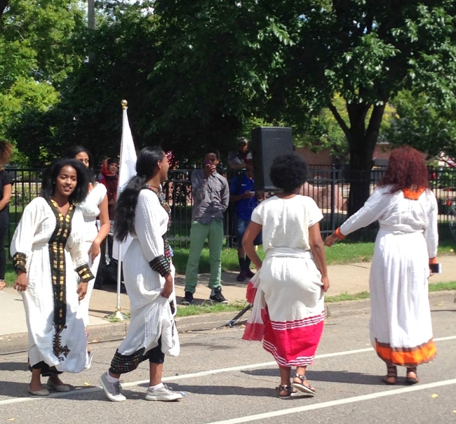 The University of Minnesota's Ethiopian Student Association dancers.